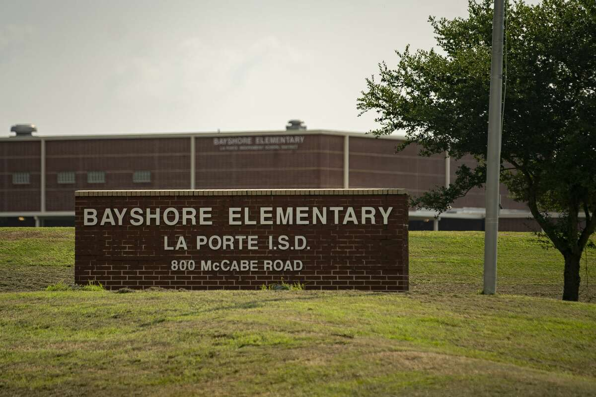 """Bayshore Elementary School in La Porte was evacuated related to a chemical leak at a Dow Chemical plant at 13300 Bay Area Boulevard, Wednesday, July 21, 2021, in La Porte. The Bayshore students were taken to Brummerhop Park on Repsdorph Road in Seabrook after the evacuation order was issued for the area at around 8:50 a.m., said a statement from La Porte ISD. """"For your safety and the safety of the children, we are asking that you leave students in our care for the time being,"""" reads the district's statement. """" We believe the shelter-in-place will be lifted soon, and reunification will occur at Bayshore Elementary School. We will keep you updated as information becomes available."""" A tank wagon over-pressurized, causing a release from the tank's vent, Harris County Pollution Control said in a statement. The incident involved a chemical called Hydroxyethyl Acrylate."""