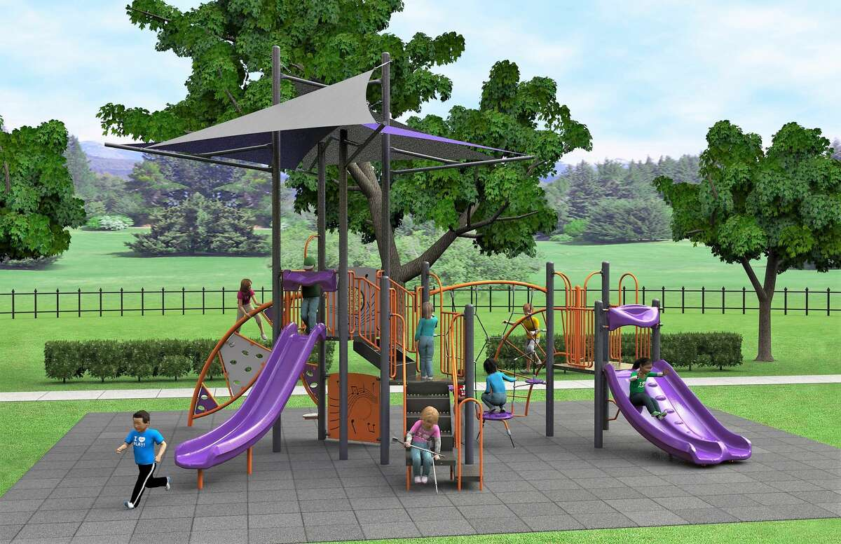 A new play structure similar to this one is planned for Pasadena's Gardens Park.