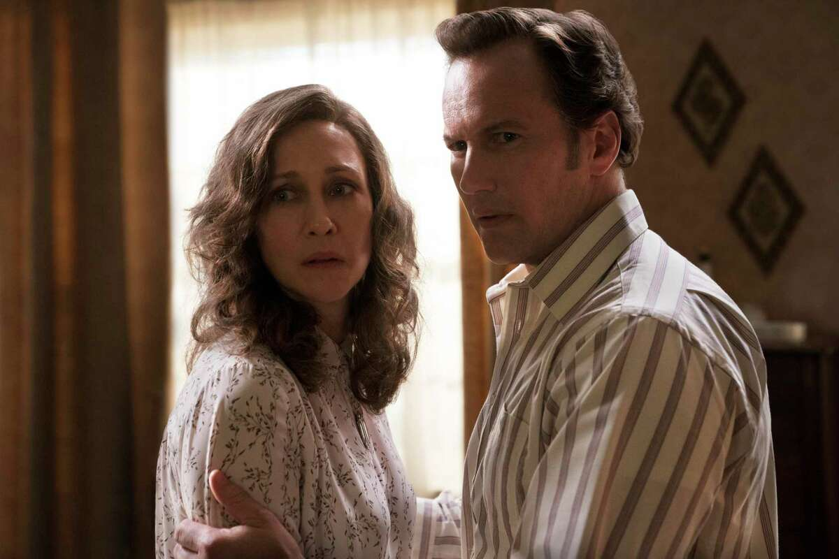 """Vera Farmiga and Patrick Wilson return as demonologists Lorraine and Ed Warren in """"The Conjuring: The Devil Made Me Do It."""""""