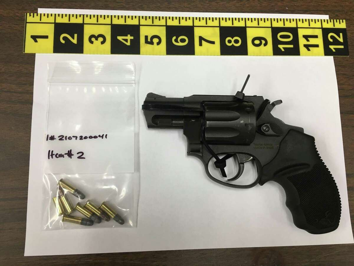 Police seized a loaded revolver from a Stamford teenager during an arrest on Tuesday night on the city's West Side.