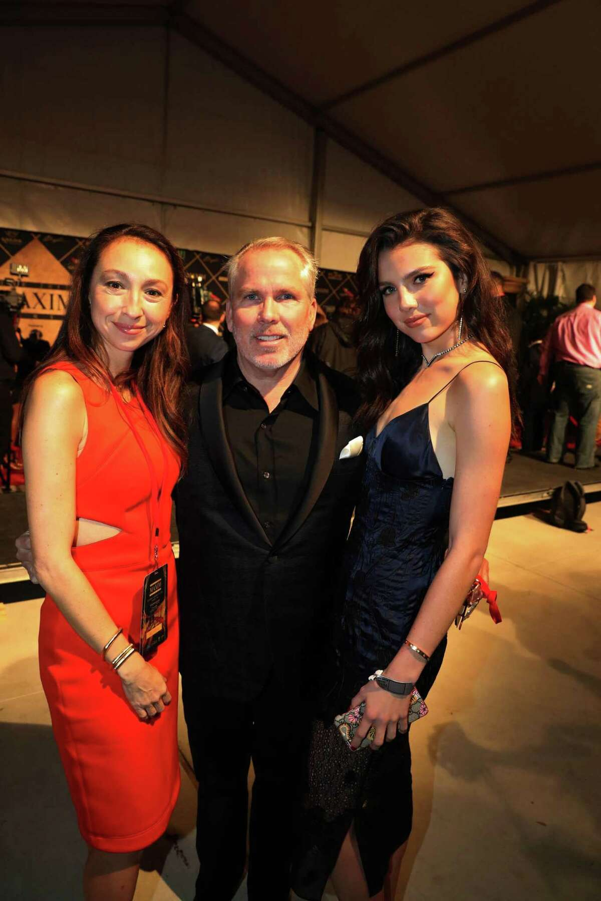 """Azteca Henry, personal-injury attorney Thomas J. Henry and Maya Henry attend the 2017 Maxim Super Bowl Party in 2017 in Sugar Land. In response to a divorce petition file by Azteca Henry, Thomas J. Henry had denied they had an """"informal marriage."""""""