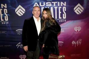 """Thomas J. Henry and Evelin Crossland attend """"Austin Elevates"""" at Sumit Austin in 2019 in Austin."""