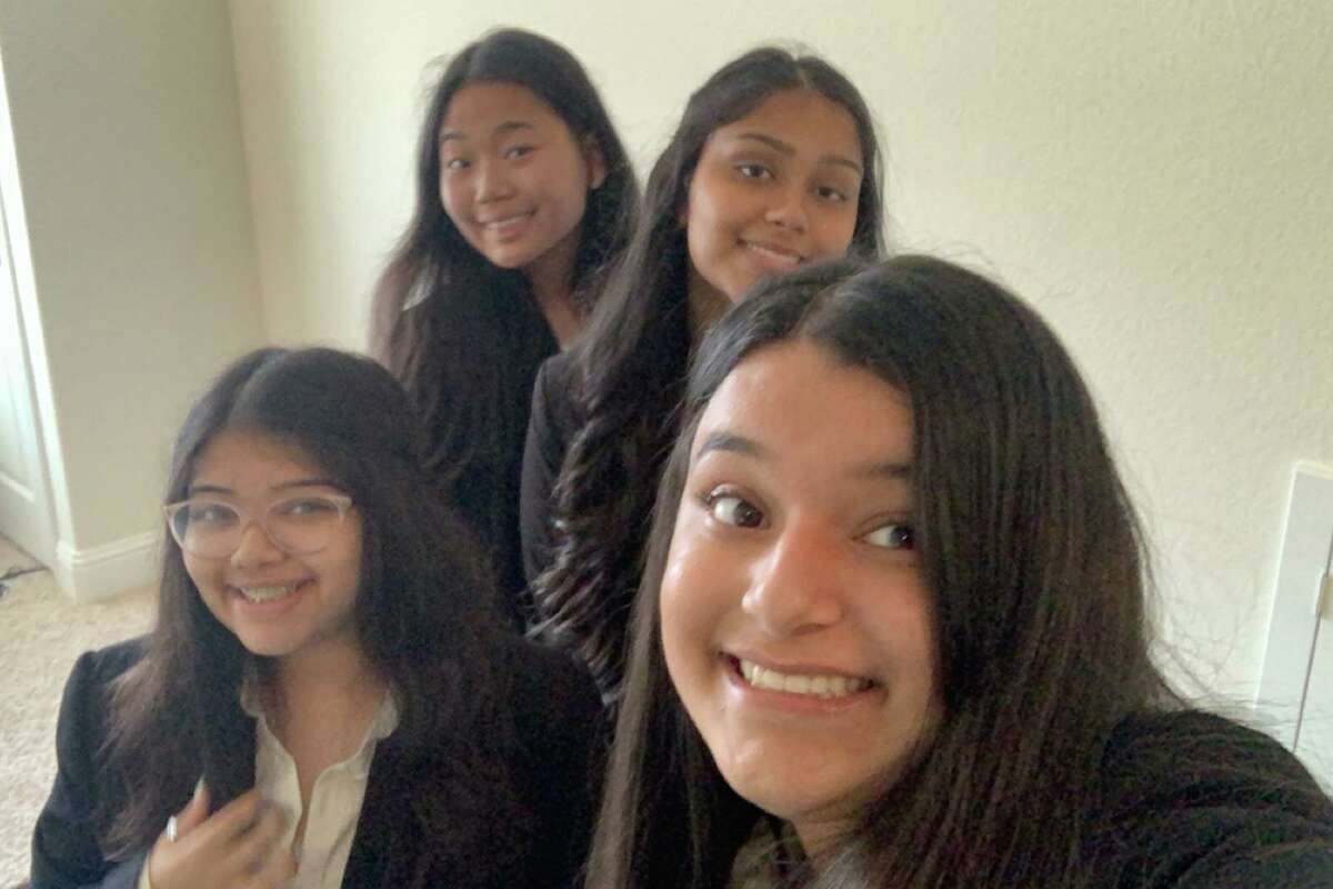 Bridgeland High School seniors Dathri Gundhappa, Jennifer Lin, Sarvani Nookala and Puneet Pahl took home first prize for their public service announcement during the virtual HOSA International Leadership Conference June 23-26, 2021.
