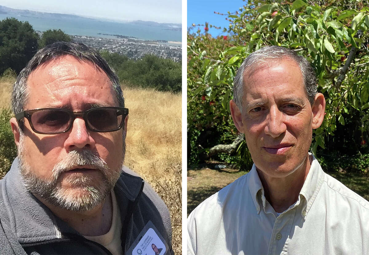 S.F. Chronicle copy editors Marty Cortinas (left) and Peter Erikson (right).