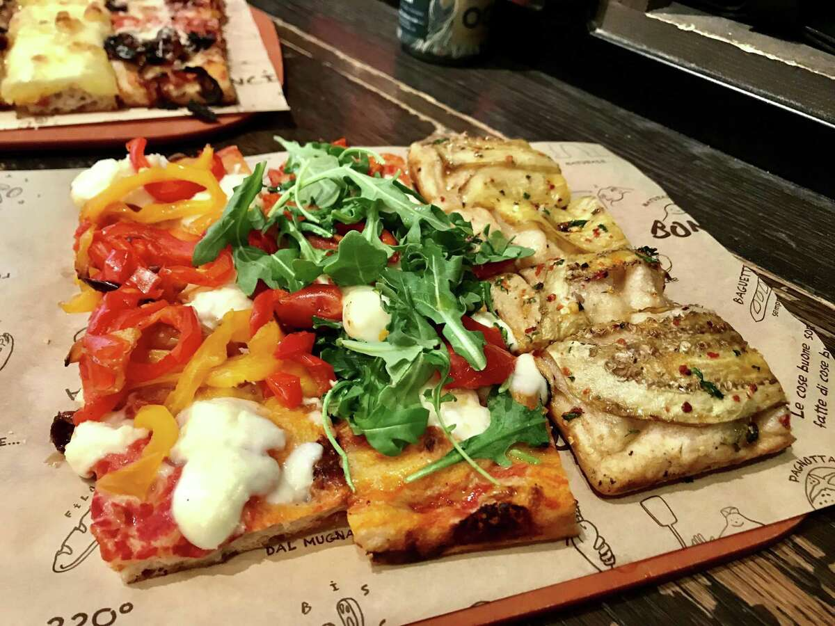Roman-style pizza by the per-pound slice at Bonci in Chicago