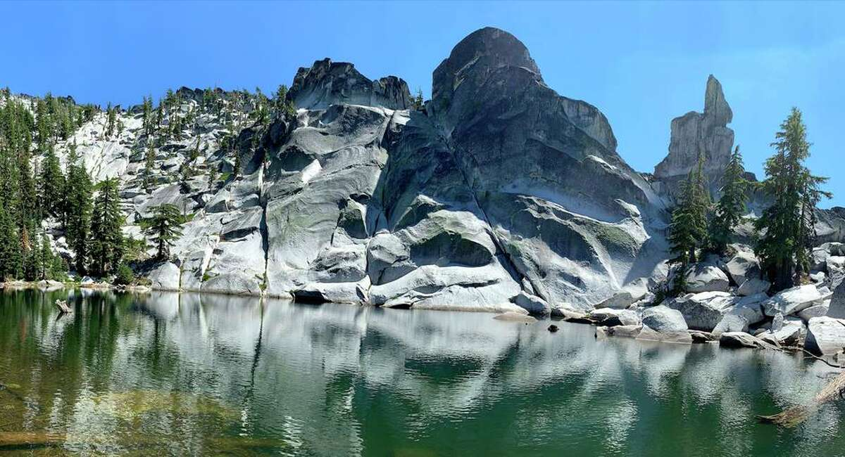 A view of Statue Lake in California's Russian Wilderness.