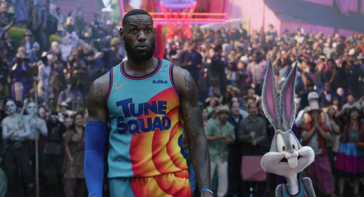 """LeBron James with Bugs Bunny in """"Space Jam: A New Legacy."""""""