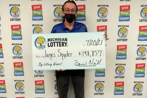 James Snyder, of Barryton, matched the Fantasy 5 numbers in the July 12 drawing to win the big prize: 12-17-25-31-33. He won $198,857. (Courtesy photo)