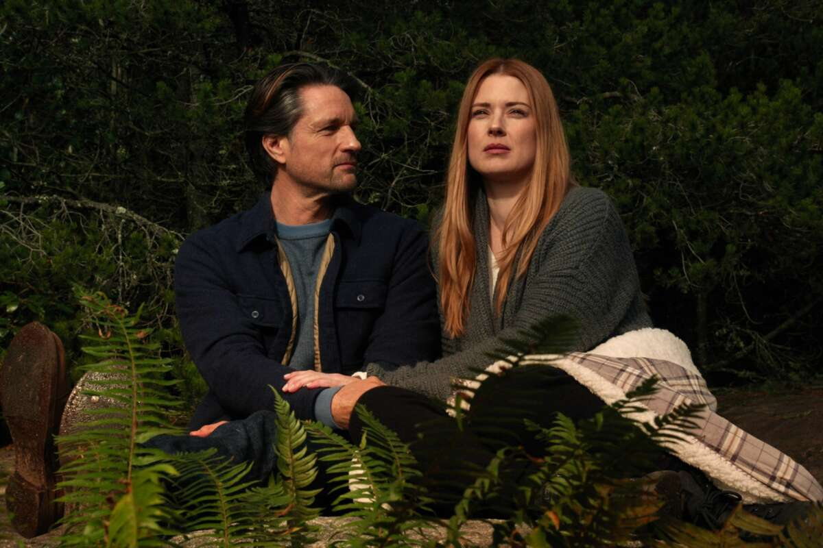 """Stills from """"Virgin River,"""" which is set in Northern California but filmed in British Columbia."""