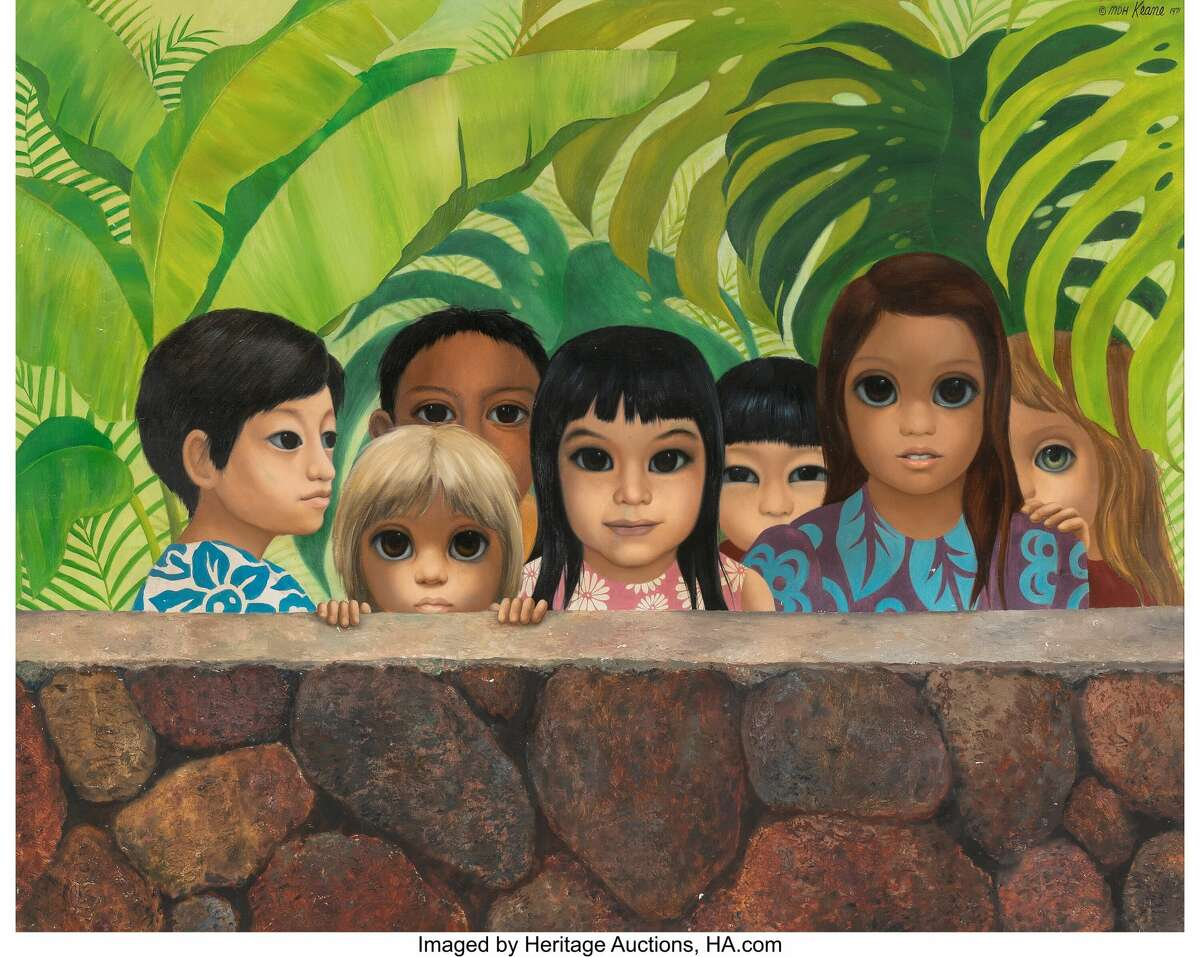 """An image of """"Eyes Upon You"""" by Margaret Keane."""