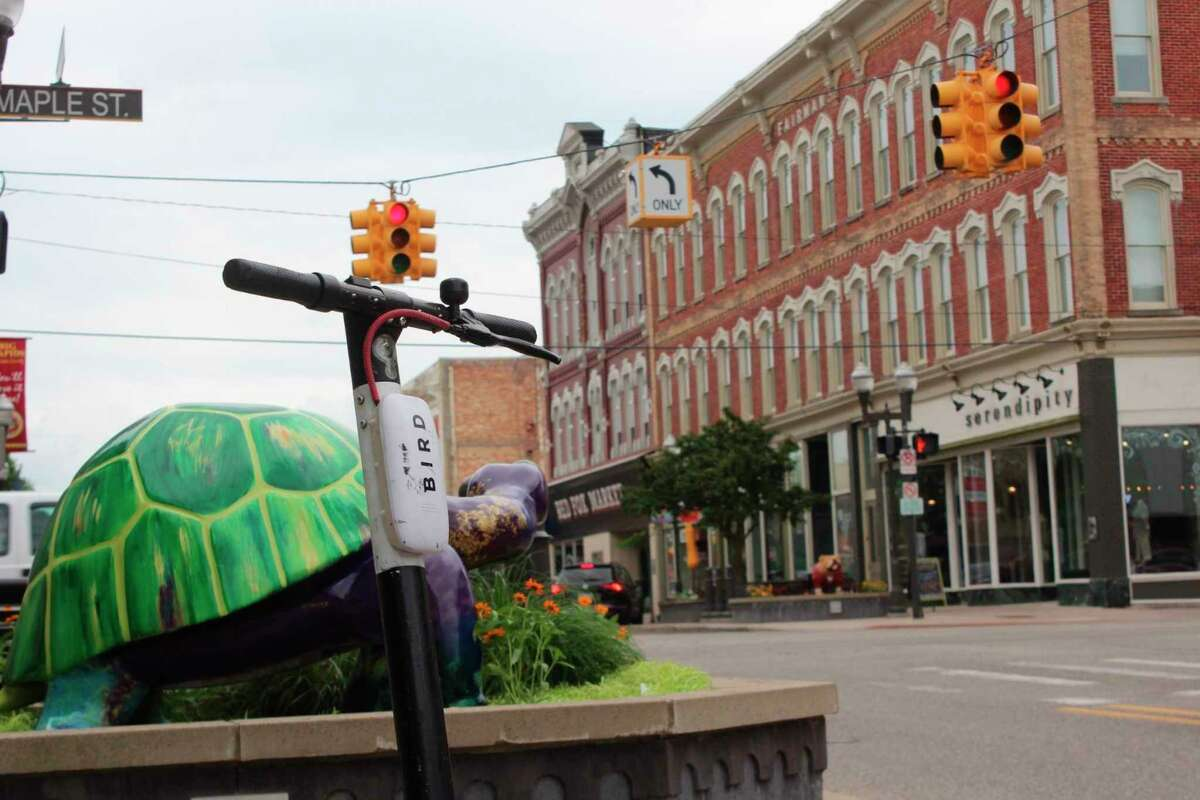 Some of the complaints being fielded by Big Rapids staff and public safety personnel included young children riding without adult supervision, and scooters being left on sidewalks and in roadways. (Pioneer file photo)