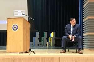 Bridgeport Schools Superintendent Michael Testani at Harding High School. Aug. 26, 2020. Bridgeport CT.