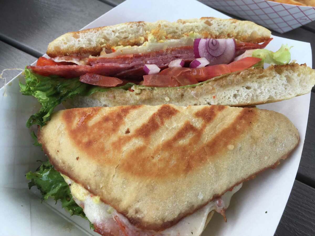 The spicy Italian sandwich at Panini Queenz