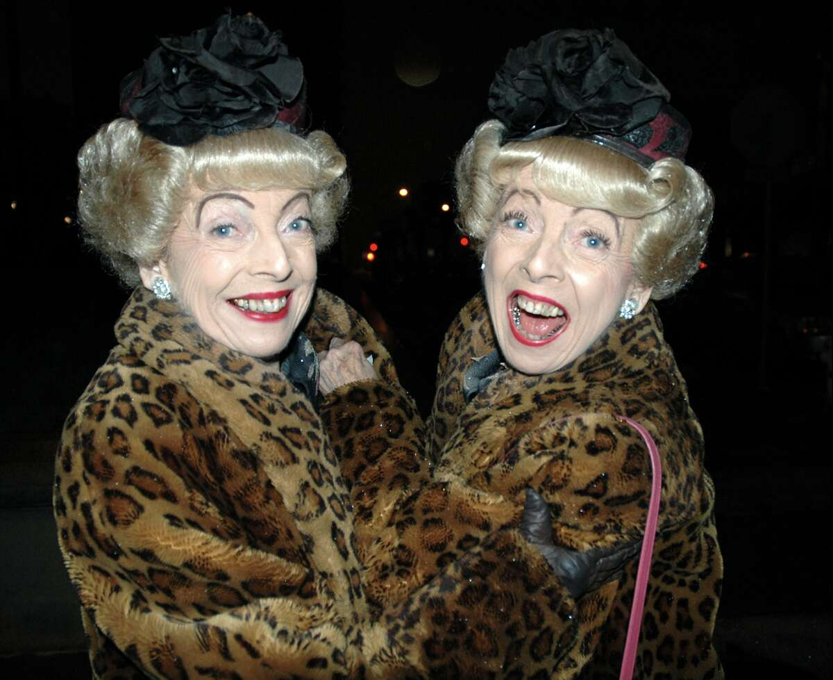 Marian and Vivian Brown were often seen in matching faux fur leopard coats.