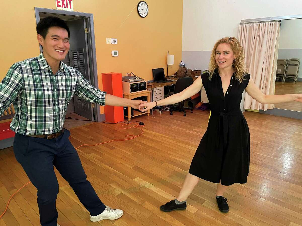Kevin Chou and Olivia Campbell dance at Vinnie's Jump in Middletown, CT and Jive on July 9, 2021.
