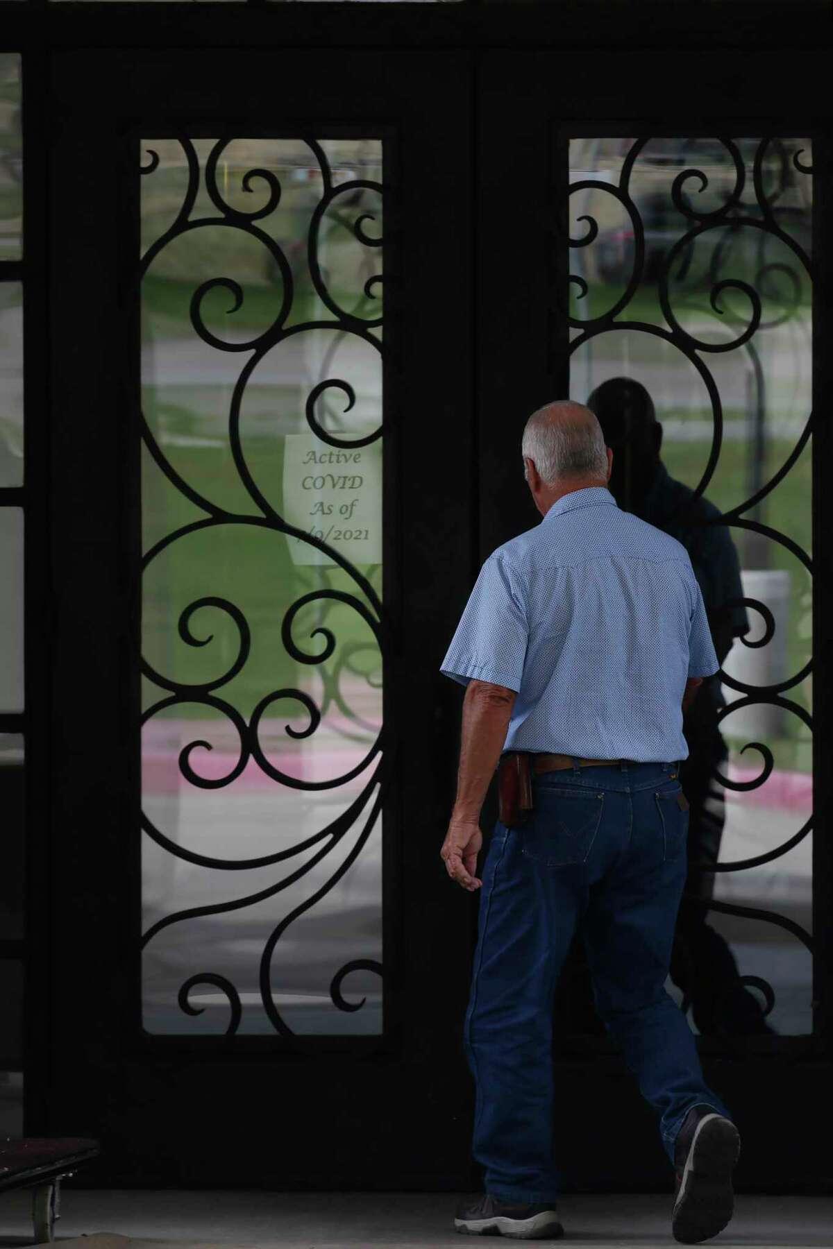 A person arrives at the Heartis San Antonio assisted living and memory care facility on Huebner Road, Thursday, July 15, 2021.