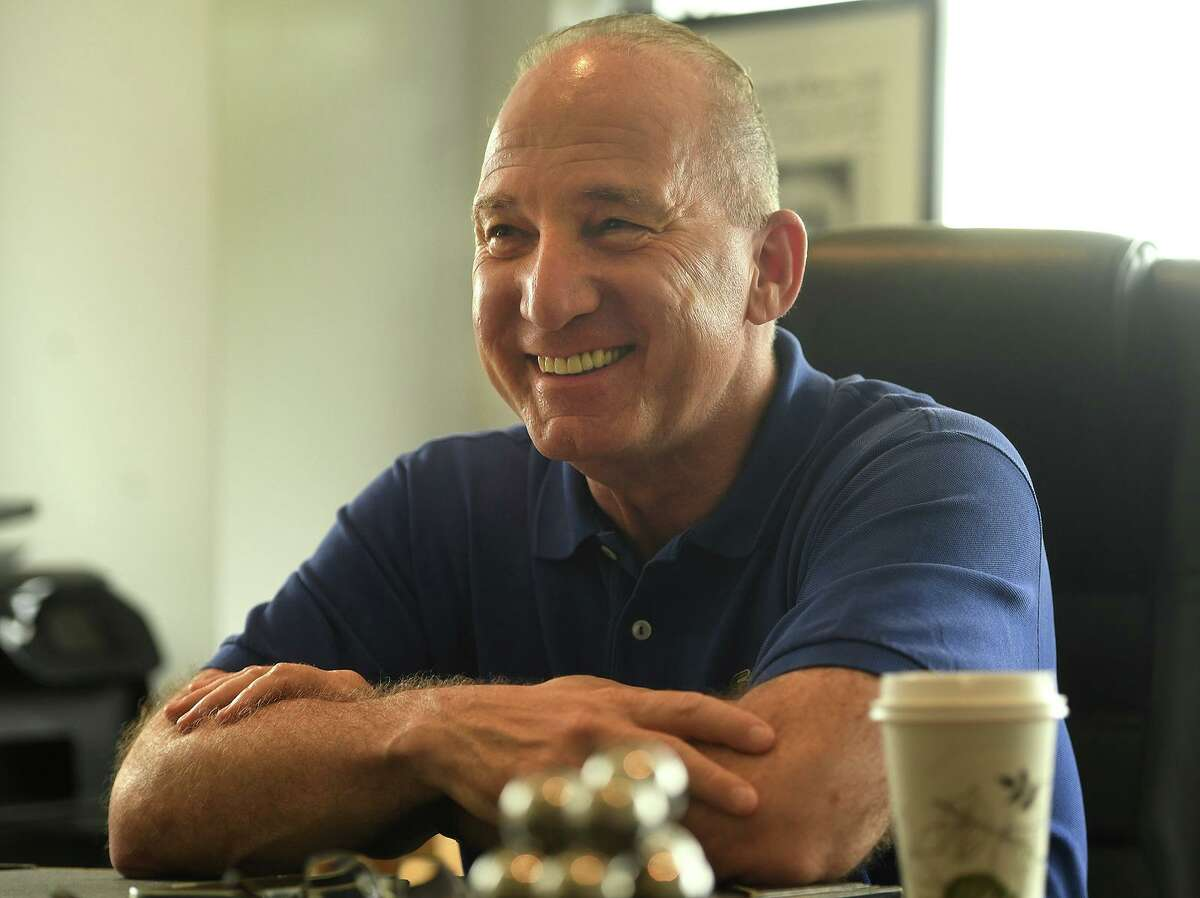 Owner Howard Saffan discusses the impending July 28 opening of the Hartford Healthcare Amphitheater, a conversion of the former Harbor Yard Ballpark home of the Bridgeport Bluefish, in Bridgeport Conn. on Wednesday, July 21, 2021
