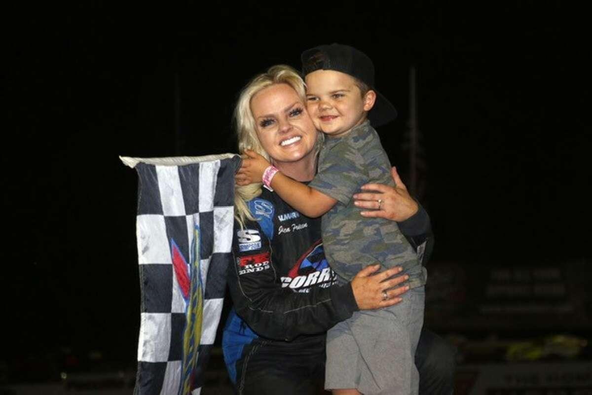 Jessica Friesen and her son Parker.
