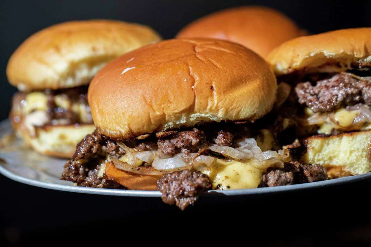 Smashburgers from Lil Eagle Burger, a roving pop-up from Zack Fernandes.