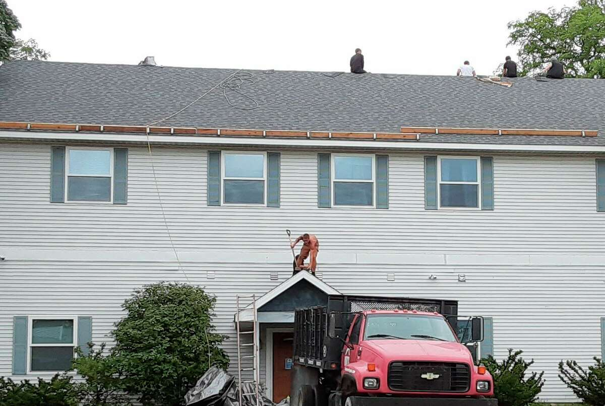 Bob's Roofing is replacing the roof at CHOICES of Manistee County. (Courtesy photo)