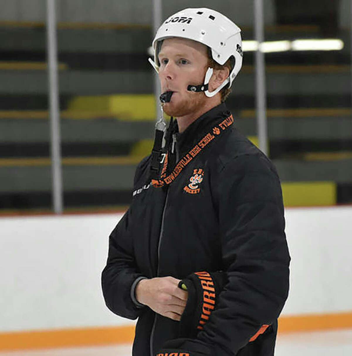 Edwardsville High School hockey coach Jason Walker is the 2021 Telegraph Hockey Coach of the Year.