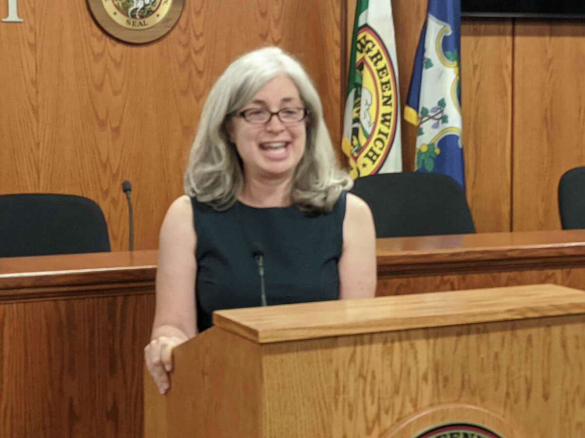 Greenwich Democrats give their unanimous backing Wednesday night to RTM member Janet Stone McGuigan as its candidate for selectman this November. Incumbent Democratic Selectperson Jill Oberlander is not running for reelection.