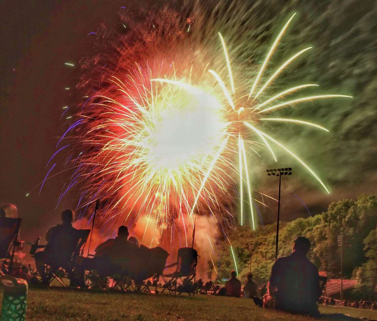 Hundreds of Wilton residents gathered to watch the town's annual fireworks display in 2019.