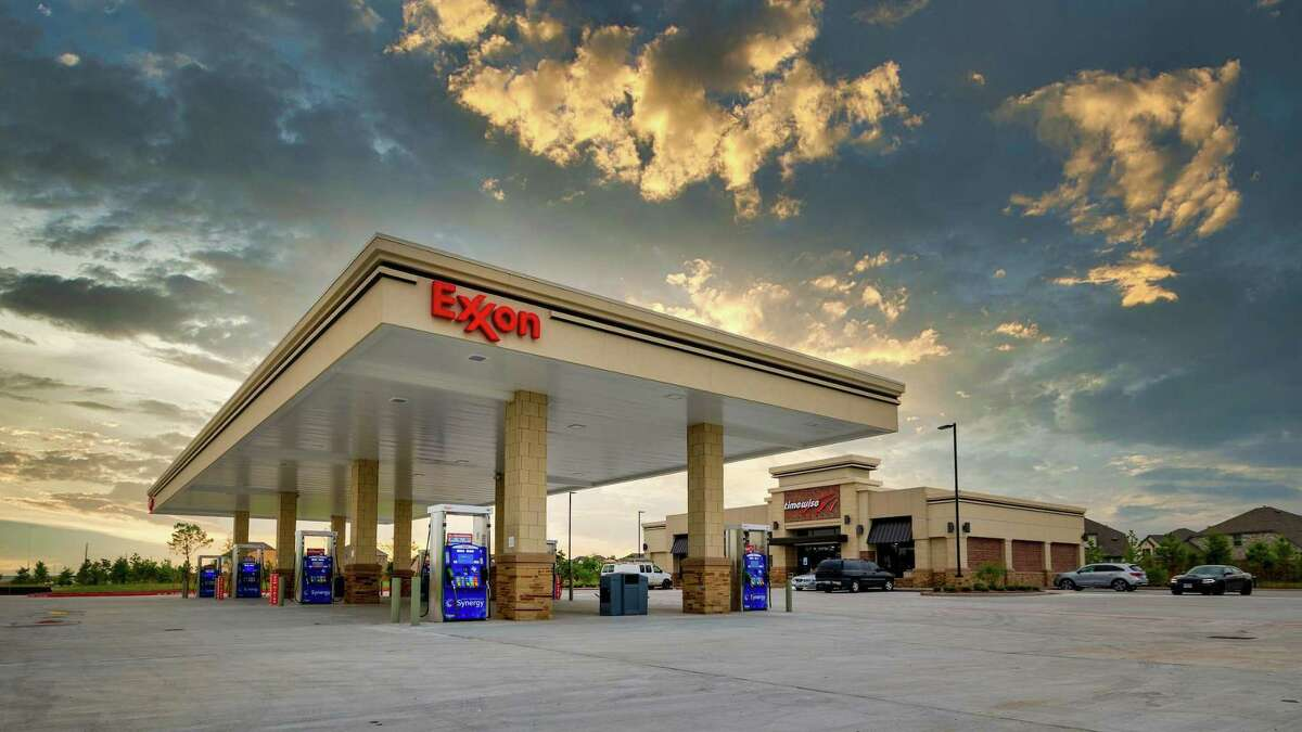 A Timewise Food Store and Exxon gas station at Tuckerton Road and Mason Road in Bridgeland incorporates residential friendly design characteristics, according to the Howard Hughes Corp. The project was developed by Landmark Industries.