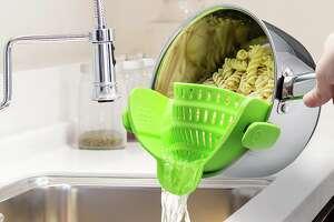 Kitchen Gizmo Snap N Strain Strainer, Clip On Silicone Colander , $9.99 at Amazon