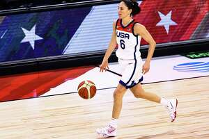 Sue Bird:  Bird is Team USA's first basketball player to carry the delegation's flag since 2004. She owns an all-time 142-6 record (.959) with USA Basketball, which is greater than her record while playing in the UConn lineup (.939).