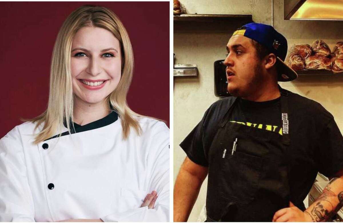 """Emily Hersh, left, and Antonio Ruiz are the two San Antonio chefs competing in the latest season of """"Hell's Kitchen."""""""