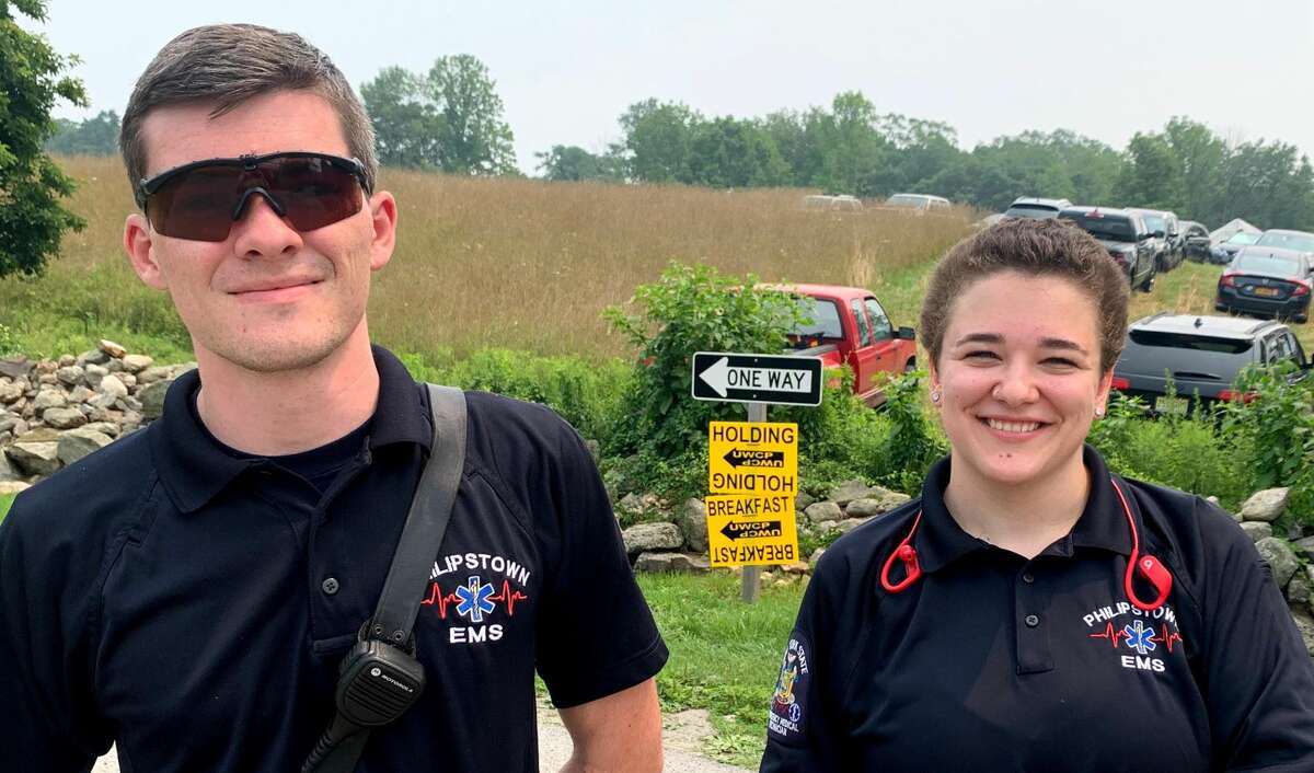 Philipstown EMS on location in Putnam County for the latest filming in the region.
