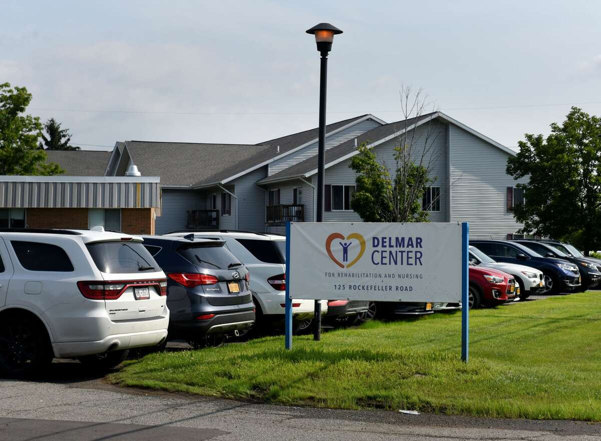 Exterior of the Delmar Center for Rehabilitation and Nursing on Friday, July 16, 2021, on Rockefeller Road in Bethlehem, N.Y. (Will Waldron/Times Union)