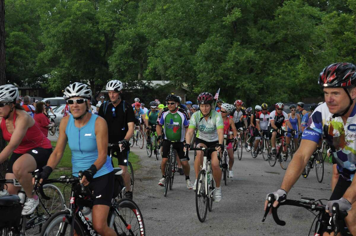 The start of the 17th Annual Burn Your Buns bike ride benefiting Bridgewood Farms. The event took place on the morning of July 4 and was well attended after last year's cancelation due to COVID-19.
