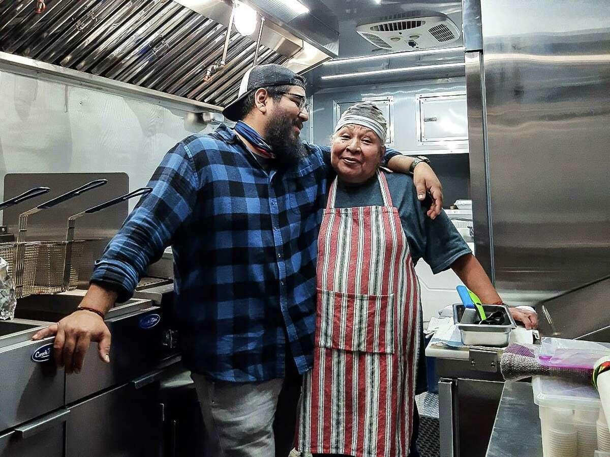 Alfredo and Teresa Martinez at El Pobre Tex Mex BBQ trailer