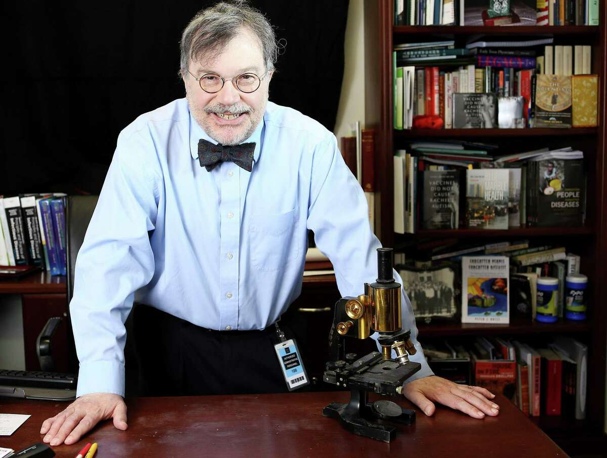 Dr. Peter Hotez at his Baylor office in Houston on Thursday, Jan. 28, 2021.