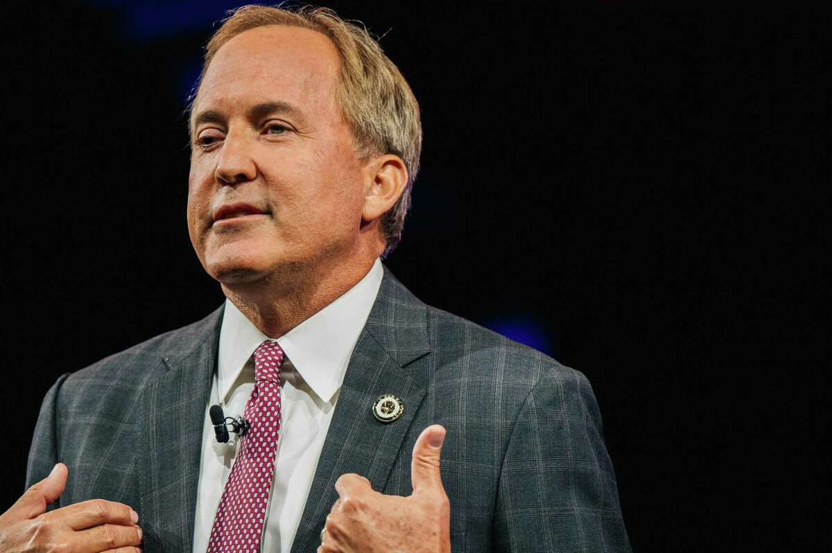 Texas Attorney General Ken Paxton speaks during the Conservative Political Action Conference CPAC held at the Hilton Anatole on July 11, 2021 in Dallas, Texas.