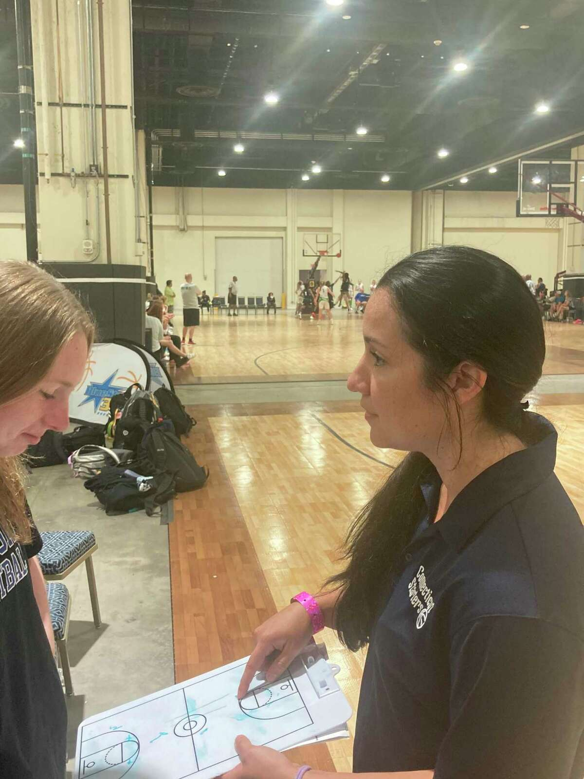 Former Lyman Hall standout Aly Medeiros is the new girls basketball coach at Branford.