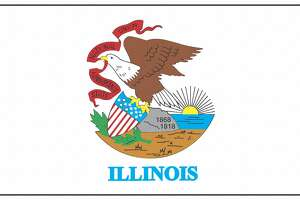 Illinois state flag. (Photo by: Photo 12/Universal Images Group via Getty Images)