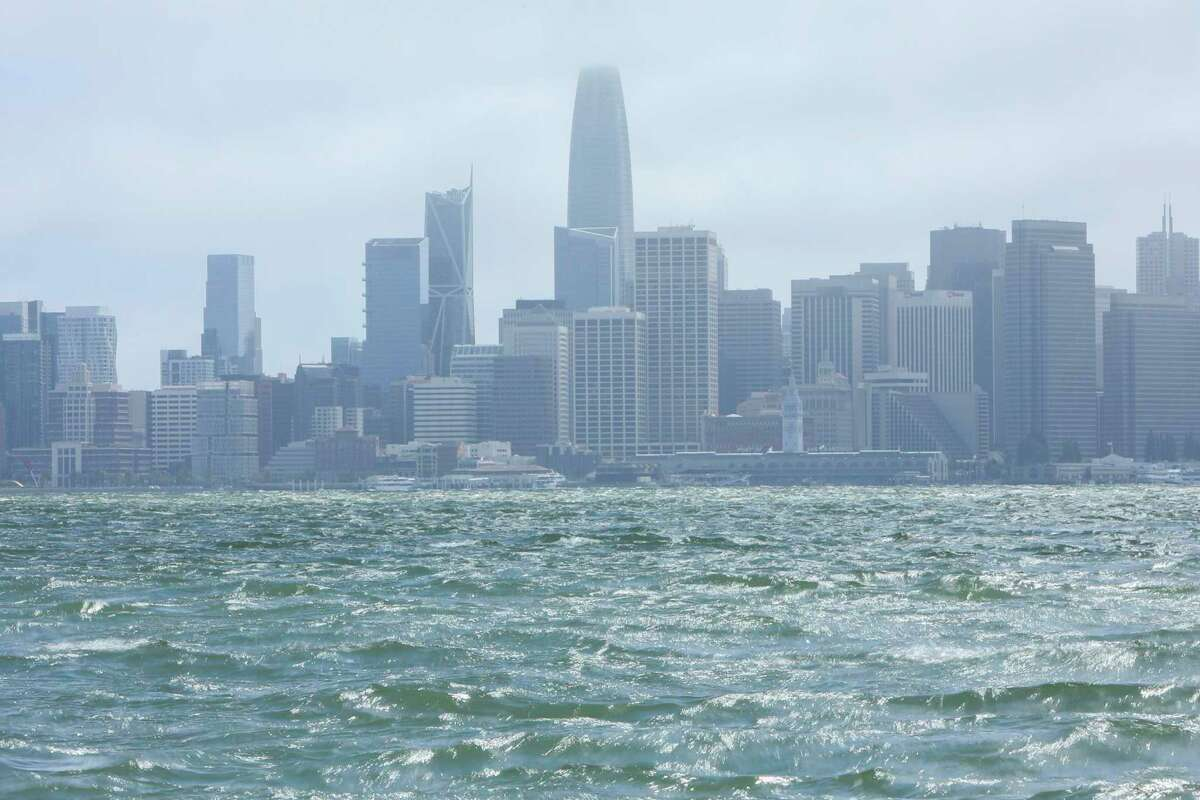 The San Francisco skyline. A new report from city analysts gave a glimpse of the city's progress recovering from the shattering economic effects of the COVID-19 pandemic.
