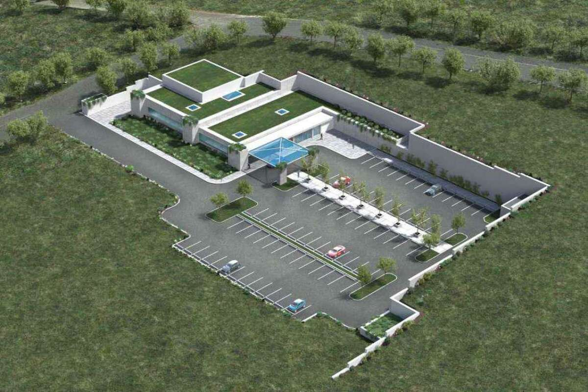 A rendering of the Danbury Proton cancer treatment center approved by Danbury planners. The project is awaiting a certificate of need from the state Office of Health Strategy.