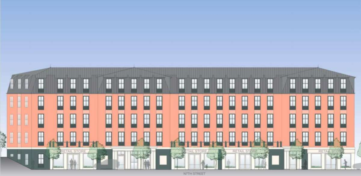A diagram of one of Galvan's two proposed apartment blocks, which can now go forward after getting approval from Hudson's planning board.