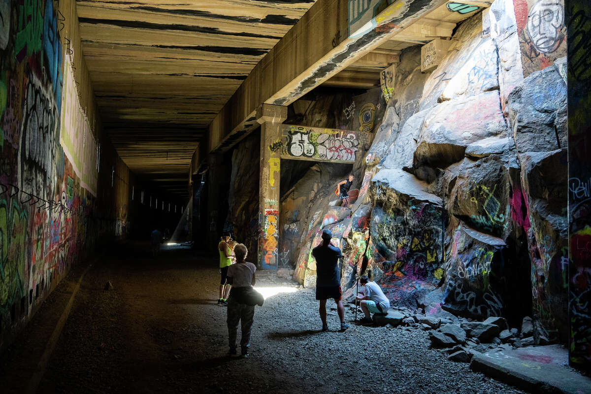 There is no signage in the tunnels, historical interpretative or educational material, or any infrastructure to support the huge visitation the railroad tunnels see in the summer.