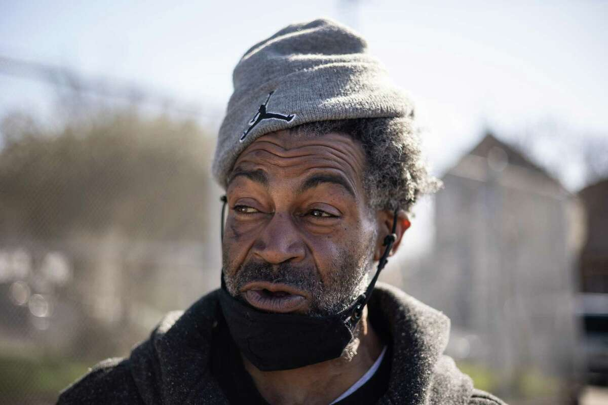 """Demetrius """"Hook"""" Mitchell is pictured on March 4 near the West Oakland apartment where he grew up. Mitchell pleaded no-contest to a misdemeanor assault charge Tuesday in San Francisco and received 12 months' probation."""