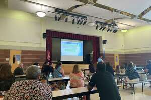Families, educators and district partners met on Wednesday at Cesar A. Batalla School in Bridgeport to discuss uses of $100.3 million in COVID-19 relief funds.