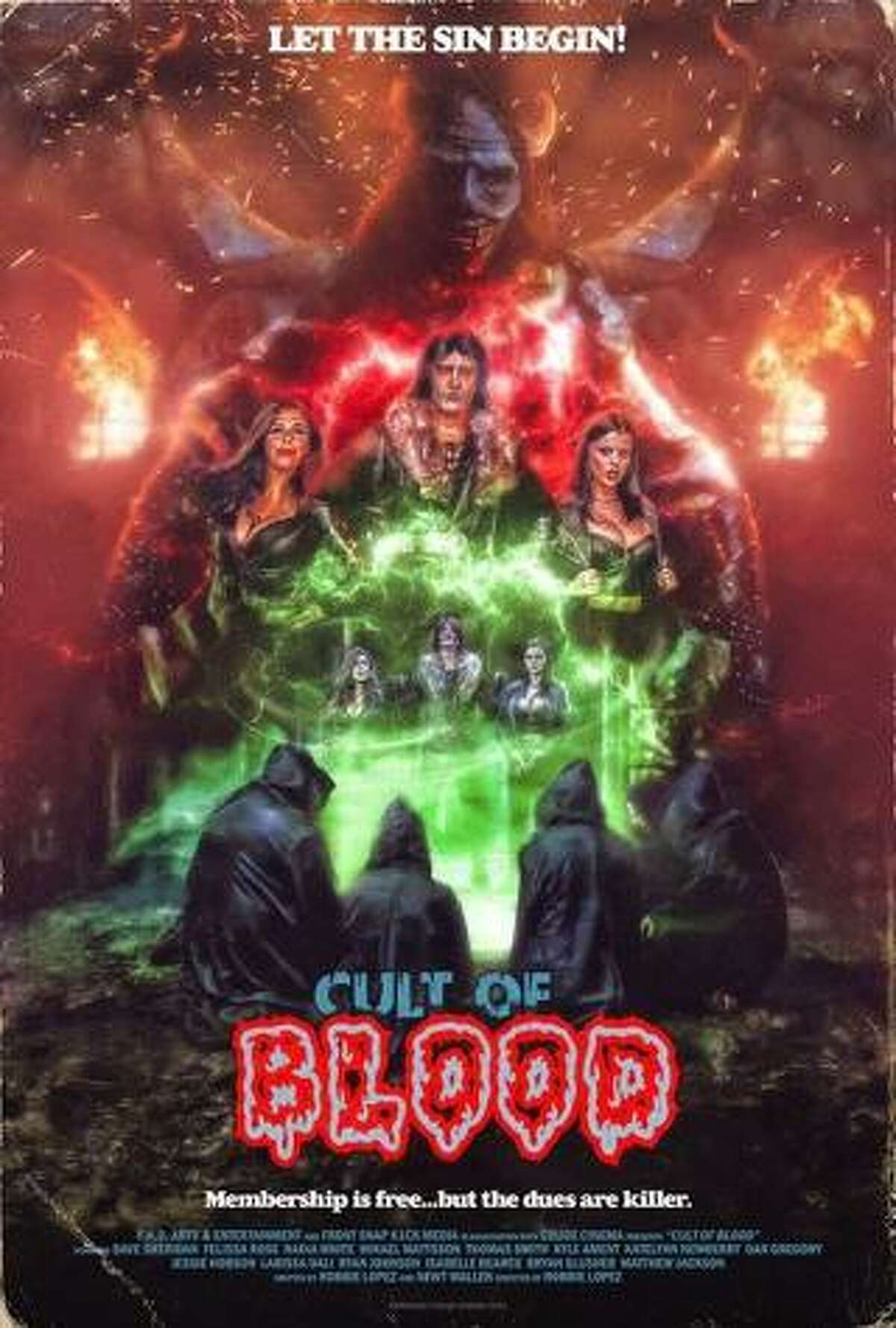 """The movie poster for """"Cult of Blood,"""" a new horror film in which Conroe native Jessie Hobson plays a major role."""