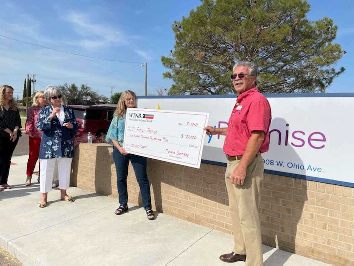 Check presentation at Family Promise of Midland