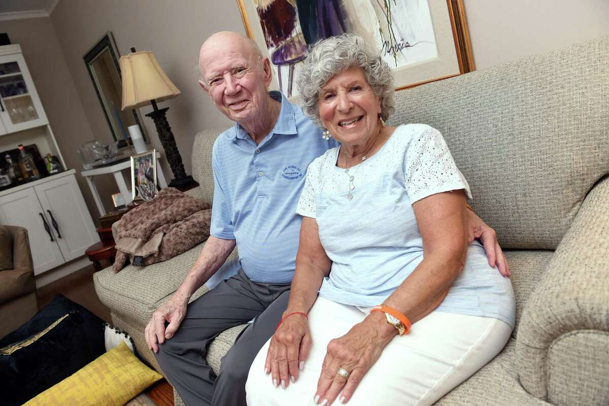 Jimmy and Susan Millen, owners of Austin-Phillips Shoe Co. in New Haven, photographed in their home on July 21, 2021.