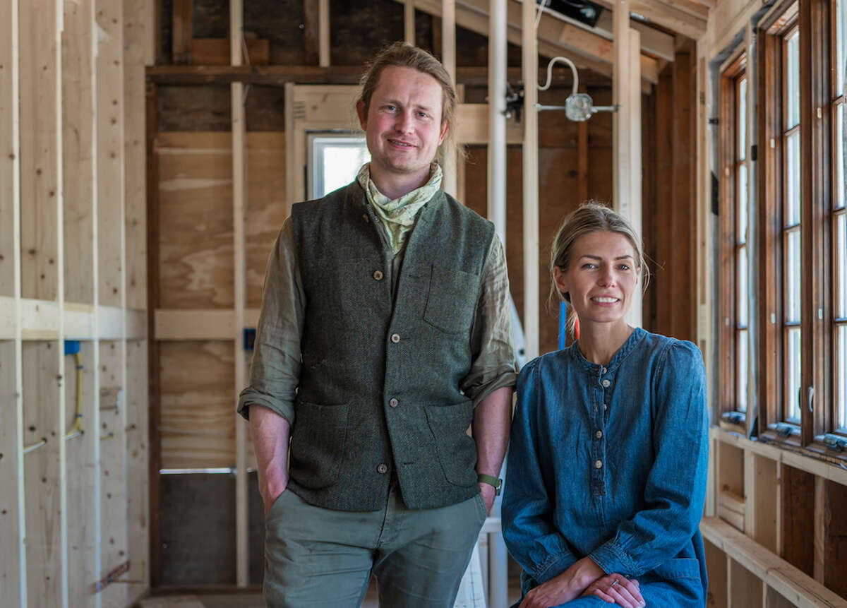 After years of designing lodging for other people to enjoy in Livingston Manor, Anna Aberg and Tom Roberts of the design company Homestedt are now renovating a home for themselves right outside of town.