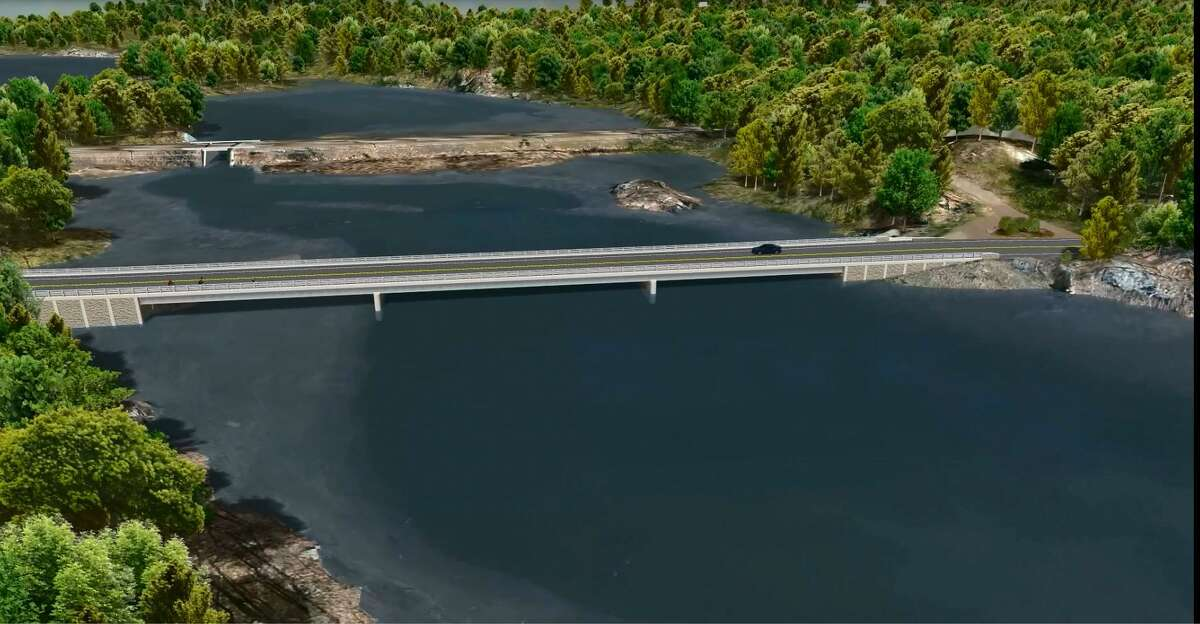 A rendering of a bridge once proposed for Route 146 that was scrapped after community feedback felt it was not fitting for the scenic road.